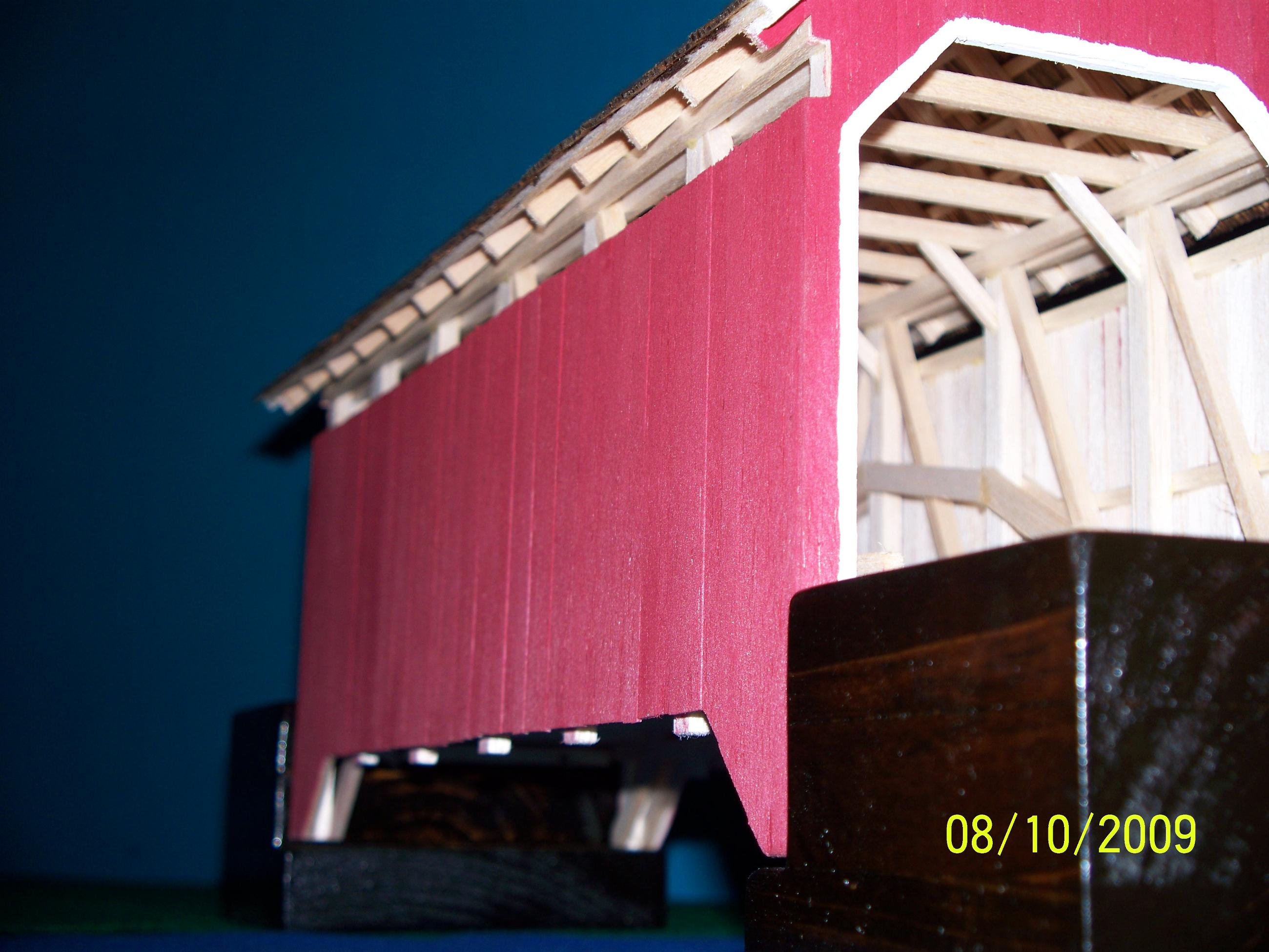 Scale Model Covered Bridge 48ft Burr Arch 2009 15